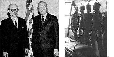 Le colonel Corso, le général Trudeau et les mannequins