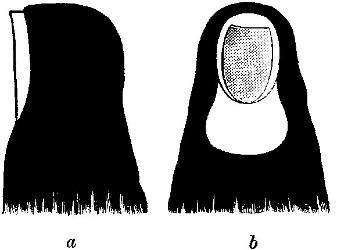 Croquis de la religieuse par un témoin, M. M.Q.