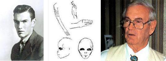 Glenn Dennis et croquis d'extraterrestre