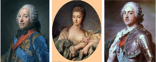 Belle-Isle, Mme dePompadour et Louis XV