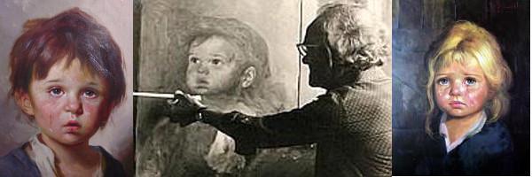 Bruno Amadio et deux de ses tableaux