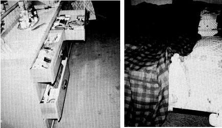 La commode aux tiroirs agités et le lit des Donovan