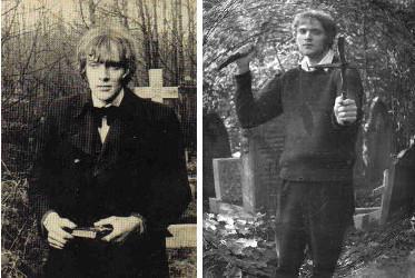 David Farrant au cimetière de Highgate