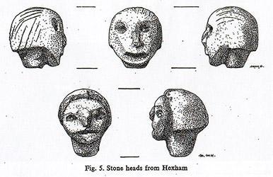 Dessins des Têtes d'Hexham