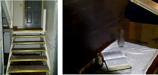 L'escalier et l'autel de la cave