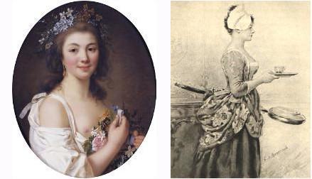 La comtesse de Genlis et Mme du Hausset