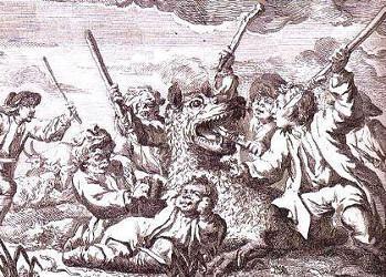 Les enfants se défendant contre la Bête