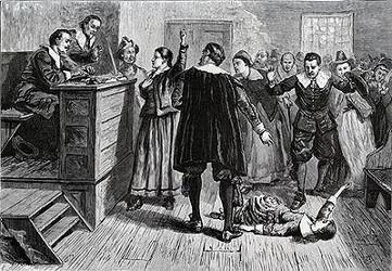 Mary Walcott en crise devant les deux magistrats