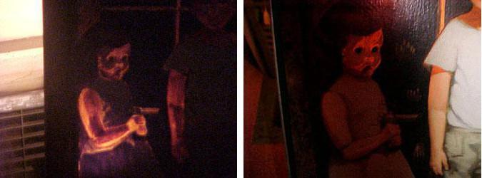Les deux photos prises de nuit