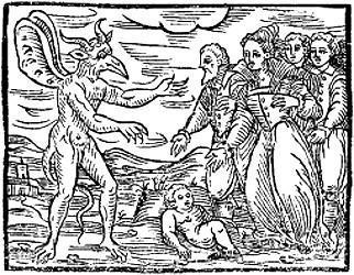 Offrande d'un nouveau-né à Satan