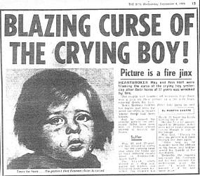 Article du journal The Sun sur Crying Boy