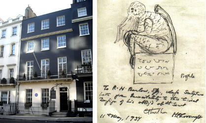 Le 50 Barkeley Square et Cthulhu dessiné par Lovecraft