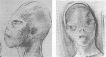 Représentation d'un alien par David Baker