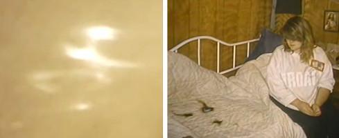 Nouvelles apparitions et couvre-lit brûlé