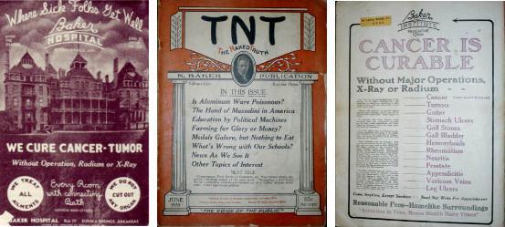 Publicités et journal de Norman Baker