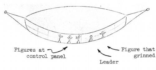 Représentation du vaisseau par Barney