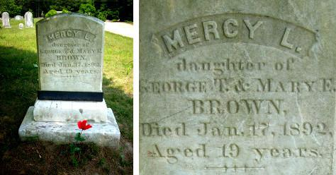 Tombe de Mercy Brown