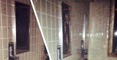 Apparition d'une femme dans un miroir