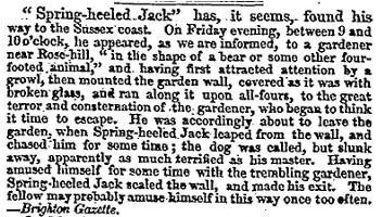 Article du Times de 1838