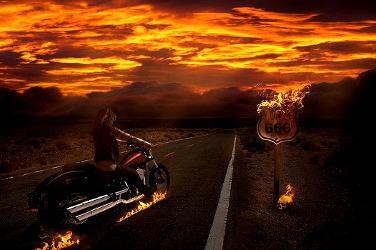 Moto Démoniaque sur la Route 666