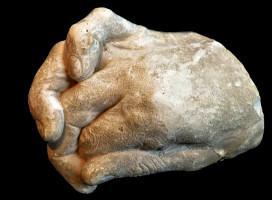Moulage du main par Gustave Geley