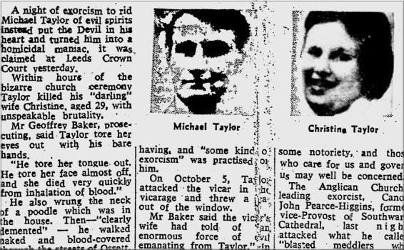 Article de Presse sur le meutre de Michael Taylor