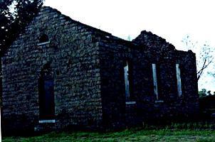 L'église en ruine
