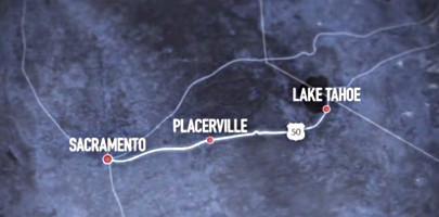Route Sacramento Lac Tahoe