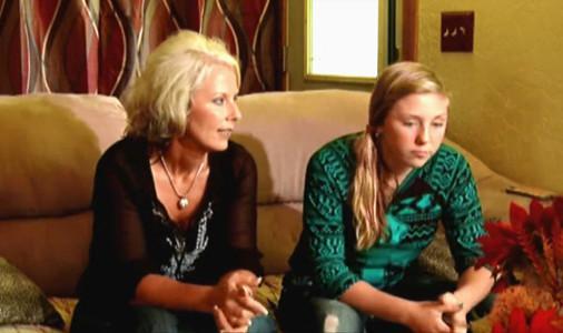 Saige et sa mère Sandy