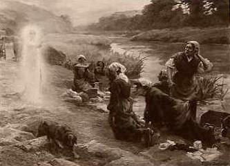 Lavandières apparition de la Vierge à Josselin