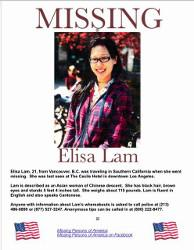 Affiche Disparition Elisa Lam