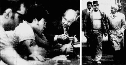Danny Lehman et le Gouverneur Moore- Libération de Bill Henderson