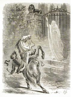 Fantôme effrayant un Cavalier