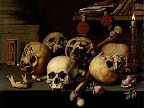 Crânes sur une Table