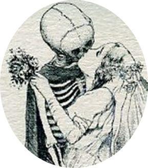 Mariée embrassant la Mort