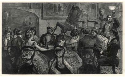 Séance de Frank Herne et Charles Williams en 1871
