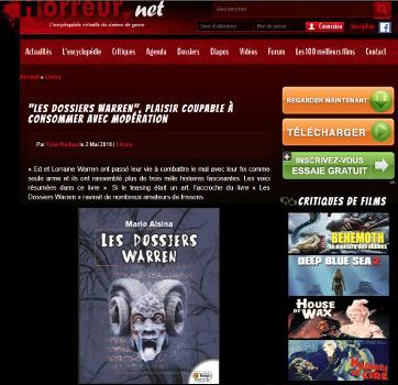 Les Dossiers Warren Horreur.net