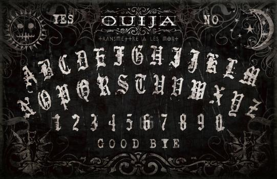Planche Ouija Noire