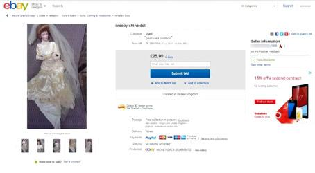 Annonce eBay de Debbie Merrick